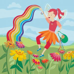 Rainbow Fairy—one of four in a series of fairy themed floor tiles for Kiddie Konecto