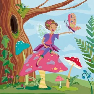 Woodland Fairy—one of four in a series of fairy themed floor tiles for Kiddie Konecto