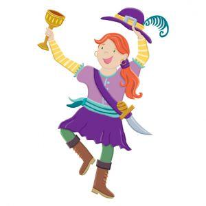 Girl pirate for children's hospital magnet board