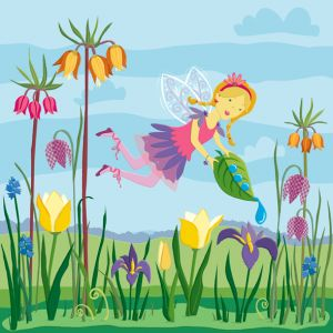 Flower Fairy—one of four in a series of fairy themed floor tiles for Kiddie Konecto