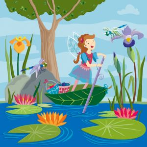 Pond Fairy—one of four in a series of fairy themed floor tiles for Kiddie Konecto