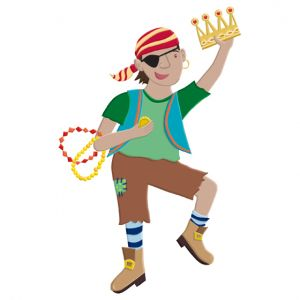 Pirate boy for children's hospital magnet play board