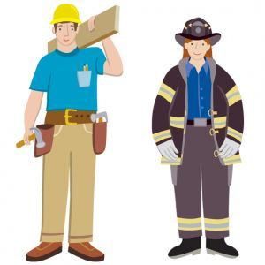 Construction worker and firefighter, for Element LLC and McGraw Hill