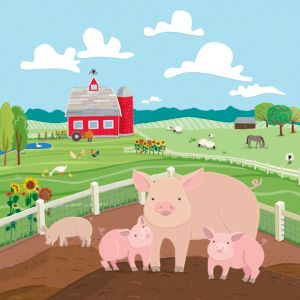 Pigs on the Farm, client: Kiddie Konecto