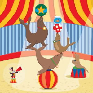 Circus Seals, client: Kiddie Konecto
