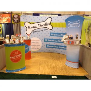 Emma Doodles tradeshow booth