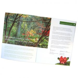 Capital Campaign materials, client: Washington Park Arboretum