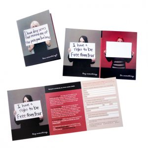 Fundraising mailer, client: Domestic Abuse Women's Network (DAWN)