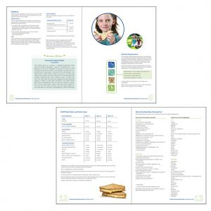 Interior of the Afterschool Meal Guide, client: Children's Alliance