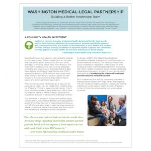 Brochure, client: Washington Medical-Legal Partnership