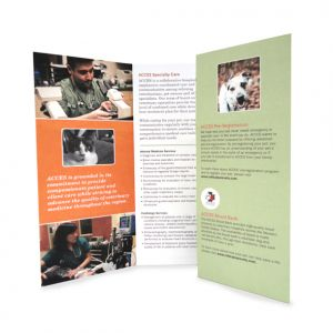 Capabilities brochure for ACCES, interior