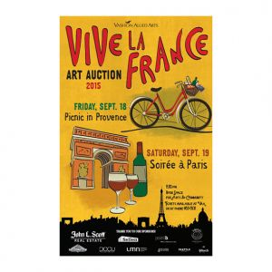 Vashon Center for the Arts art auction: Vive La France