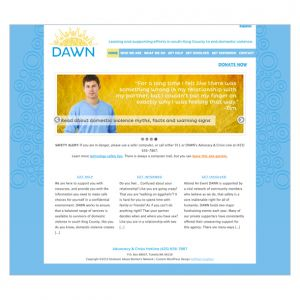 DAWN—Art Direction and content development. Web developer: Sheila Hoffman