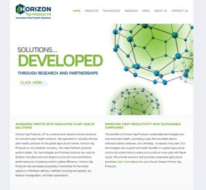 Horizon Ag Products—Art direction and content creation, Web Designer: Hoffman Graphics