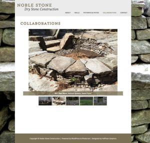 Noble Stone—Art direction, Web Designer: Hoffman Graphics