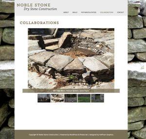 Noble Stone—Art direction, Web Designer: Hoffman Graphics