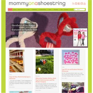 Mommy on a Shoestring—Art direction and content creation, Web Designer: Hoffman Graphics