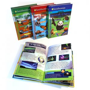 Smithsonian Readers, Levels 1-4, series cover/back cover and fact card designs and entire level 4 interior design
