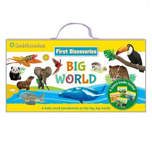 Smithsonian First Discoveries: Big World • Board books and carrying case